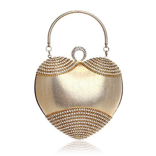 Gold Evento Bag Para Mujer Tutu Poliéster Formal All fiesta Bolsos Seasons Boda Rhinestone Evening 1xB8qO8w4