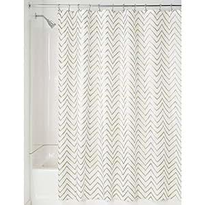 Interdesign sketched chevron cortina de ba o cortina de for Cortinas para baneras