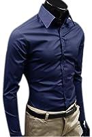 Camicie Uomo Slim Fit Maniche Lunghe Casual Camicia Abito Camicia Affari Top Classiche Formale Camicetta Shirt Moda Men Colore Puro Shirts