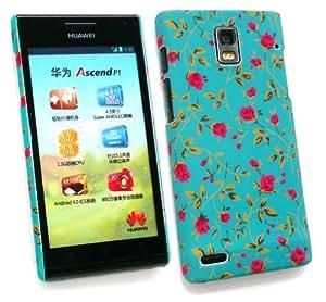 Emartbuy Huawei Ascend P1 ® Rose Garden Clip On Caja De Protección / Portada / Piel