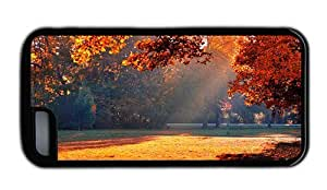 Hipster free iPhone 5C covers autumn park sunshine Black for Apple iPhone 5C