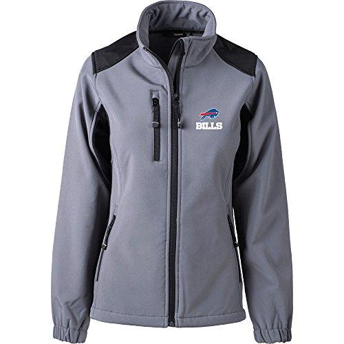 NFL Buffalo Bills Women's Softshell Jacket, Medium, Graphite