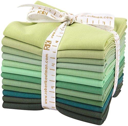 Studio RK Kona Cotton Solids Spring Meadows 12 Fat Quarter Bundle Robert Kaufman Fabrics FQ-924-12 (Spring Bundle)