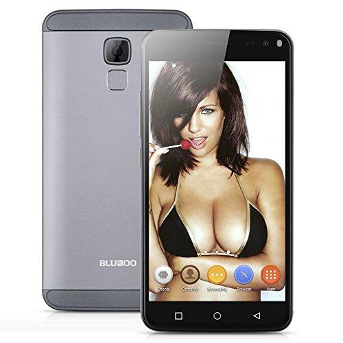Bluboo Xfire 2 5.0 Zoll 3G Smartphone ohne Vertrag Android 5.1 IPS HD MT6580 Quad Core 1.2GHz 1GB RAM + 8GB ROM 1280*720 Pixel Screen Dual SIM 8MP 5MP Dual Kamera Handy Hotspot GPS A-GPS Gesture Function Fingerprint Grau