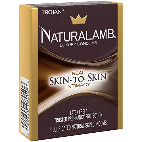 Trojan NATURALAMB Premium Lubricated Natural Lamb Skin Condoms with Bonus Pocket/Travel Case-3 Count (Silver Travel Case) (Trojan Condoms Naturalamb)
