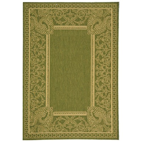 Cheap Safavieh Courtyard Collection CY2965-1E06 Olive and Natural Indoor/Outdoor Area Rug (4′ x 5'7″)