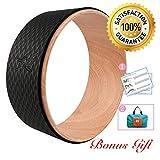 Risefit Dharma Yoga Prop Wheel for Yoga Poses, Wood