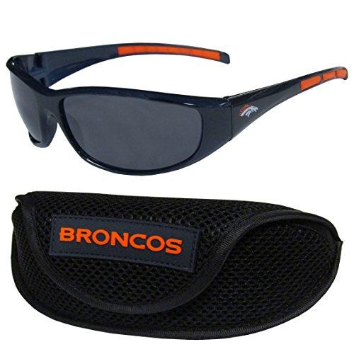 NFL Denver Broncos Wrap Sunglasses & Sport Case, - Denver Sunglasses