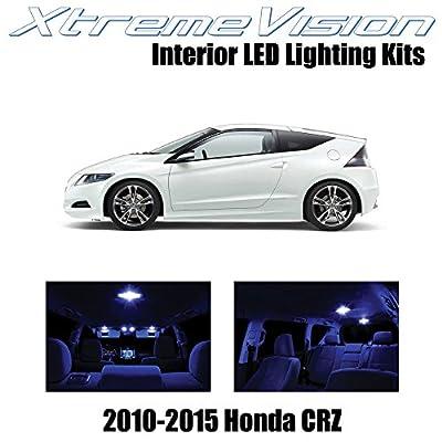 XtremeVision Interior LED for Honda CR-Z 2010-2015 (9 Pieces) Blue Interior LED Kit + Installation Tool Tool: Automotive