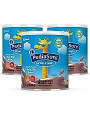 PediaSure Grow & Gain Chocolate Shake Mix, Nutrition Shake for Kids, 14.1 oz, 3 count