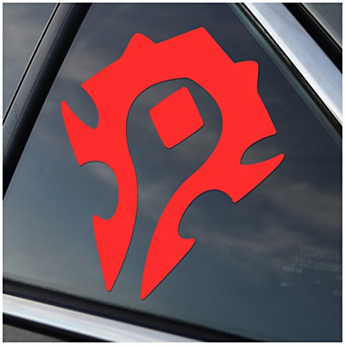 (World of Warcraft Horde Logo WOW Car Decal Sticker (cars, laptops, windows) (Red))