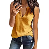 Womens Long Sleeve T Shirt V Neck Loose Fit Soft Waffle Knit Thermal Tops