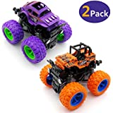 WOCY Monster Trucks Toys, Monster Friction Powered Truck Vehicles Big Tire Wheel Car -2 Pack