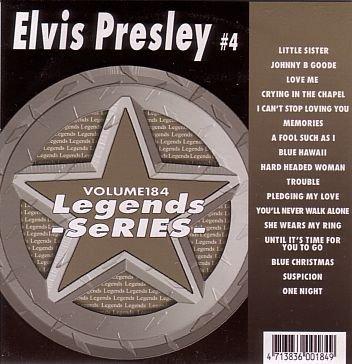(Legends Karaoke Volume 184 - Hits Of Elvis Presley #4)