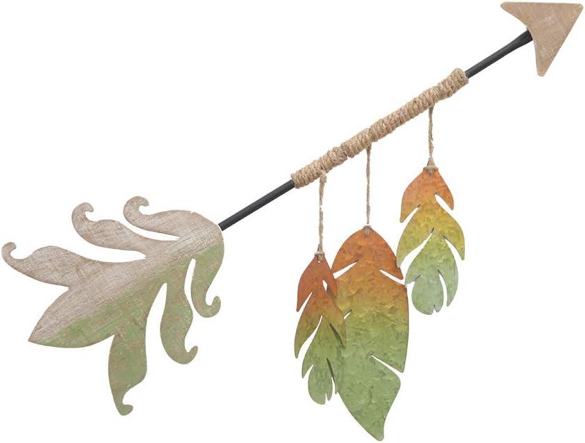 Wooden Wall Decor Arrow Sign Wall Art Metal Multi-Color Handmade Decorative for Living Room