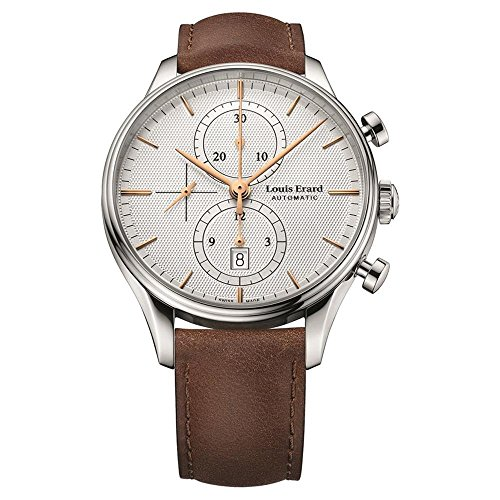Louis Erard Men's Heritage 43mm Brown Leather Band Steel Case Automatic Analog Watch 78289AA31.BVA01