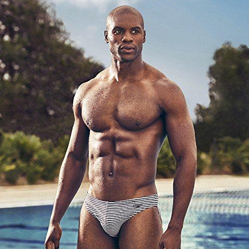 f1b23e514b Speedo Men's Xtra Life Lycra Solar 1 inch Brief Swimsuit, Black, 32
