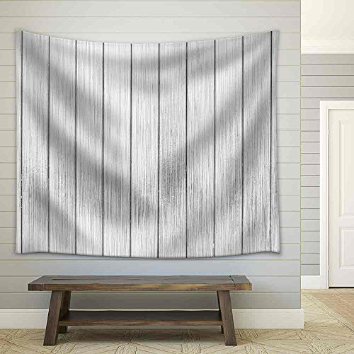 Black and White Wooden Background Fabric Wall Tapestry