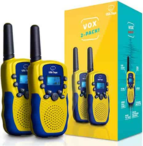 USA Toyz Walkie Talkies for Kids - Vox Box Voice Activated Walkie Talkies for Boys or Girls, Long Range Walkie Talkie Set for Toddlers or Children