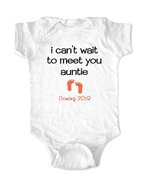 Amazon.com: I Can t Wait to meet you Auntie Coming 2018 ...