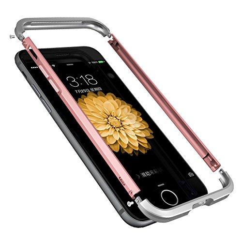 Aluminum Metal Bumper Case for Apple iPhone 7 (Gold) - 5
