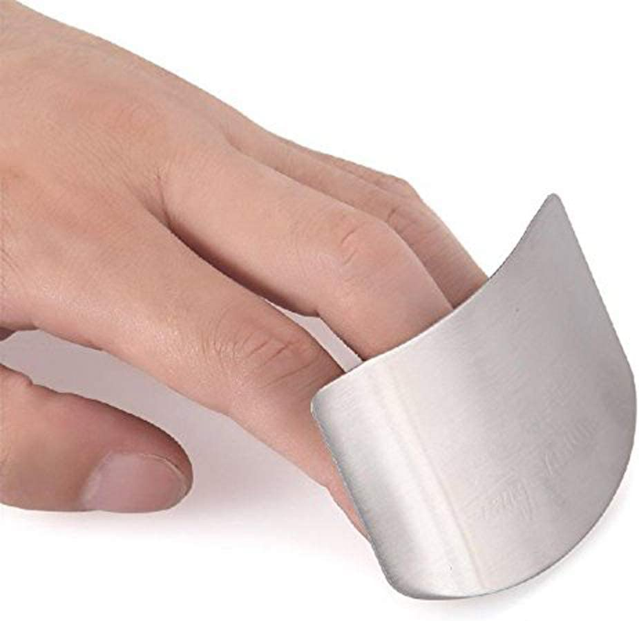 Coolrunner Stainless Steel Finger Protector Hand Guard Knife Slice Chop Shield Safe Protection Kitchen Tool