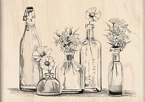 Inkadinkado Bottle Row Wood Stamp