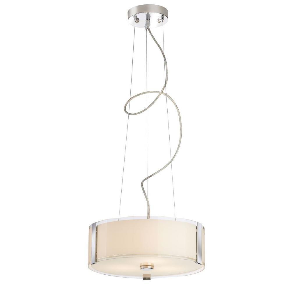 Home Decorators Collection Bourland 3-Light Polished Chrome Pendant