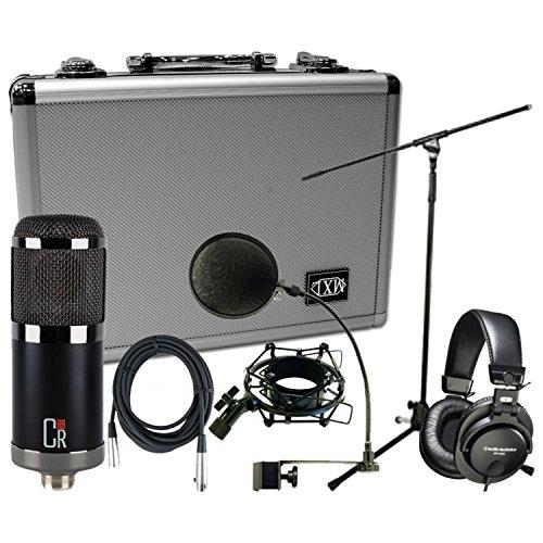 MXL CR89 Large Diaphram Low Noise Condenser Studio Mic w/Case and Shock Mount, Pop Filter, 20' XLR (Waves Vocal Bundle)