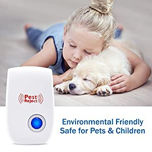 [NEW 2018] Pest Control Ultrasonic Repeller - Electronic Mouse Repellent Plug In for Insects, Mice, Rats, Spiders, Roaches, Ants, Bugs, Flies, Fleas, Mosquitoes, Environment-friendly