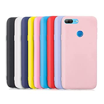 TVVT 9X Funda para Huawei Honor 9 Lite, Ultra Delgado Color Carcasa Premium Ultraligero Suave Silicona TPU Protectora Espalda Case Cover Anti-Rasguños ...