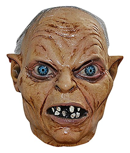 Maze Colorful Horrible Ugly Villains Clowns Latex Halloween Full Face Masks, GollumMask One Size -