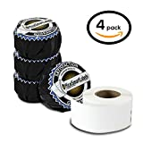 """Dymo Compatible 30251 LabelWriter Self-Adhesive White Address Labels, 1-1/8"""" x 3-1/2"""" (4 Rolls, 130 Labels Per Roll)"""