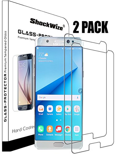 Samsung Galaxy Note 7 Ballistic Screen Protector ShockWize [2 Pack] [Tempered Glass] [NOT Edge to Edge] .3mm Thin Premium Real Glass Screen Protector Galaxy Note 7 (2x)