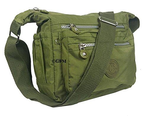 GFM S5 Messenger Sac femme Sac multiples de Croix ghjtn Green à bandoulière Corps Poches 05 en sac pour tissu léger rrxwPaR4q6