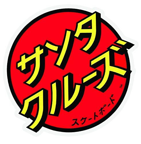 D Sticky Company Santa Cruz Japanese Dot Skateboard Sticker Red/Yellow