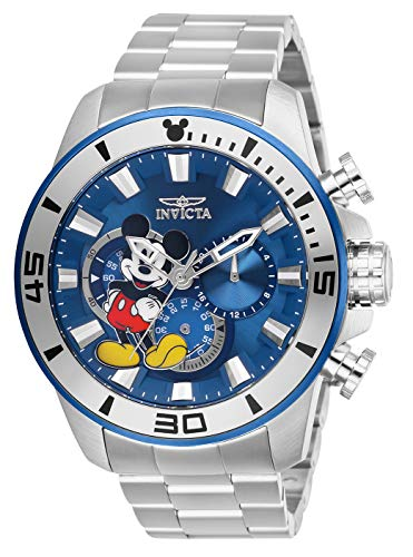 Invicta Men's Disney Limited Edition Quartz Watch with Stainless-Steel Strap, Silver, 24 (Model: 27362)