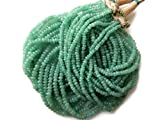 Multi Strand Emerald Beaded Necklace, Natural Emerald Smooth Rondelle Beads, 7 Strands, 3mm To 5mm Beads, GDS897
