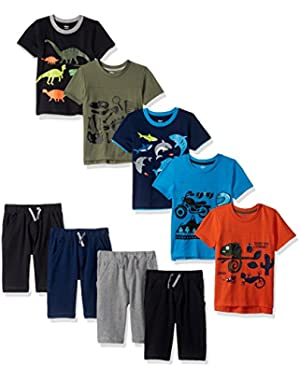 Gerber Graduates Baby Boys' 9 Piece Season in a Box, 5/Tops 4/Shorts