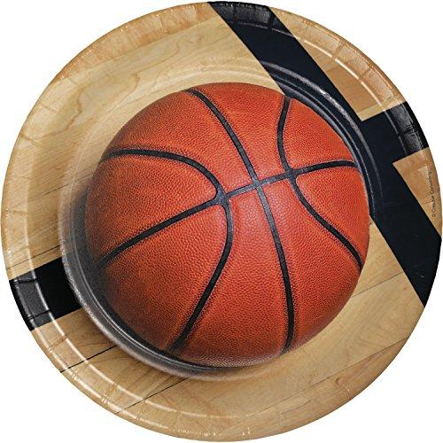 Basketball Paper Plates, 24