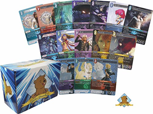 500 Random Final Fantasy Trading Card Game Lot! Rares and Foils Included! Comes in Custom Golden Groundhog Box!