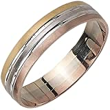 14K Tri Color Gold Pattern Men's Wedding Band (5mm) Size-12.5c1
