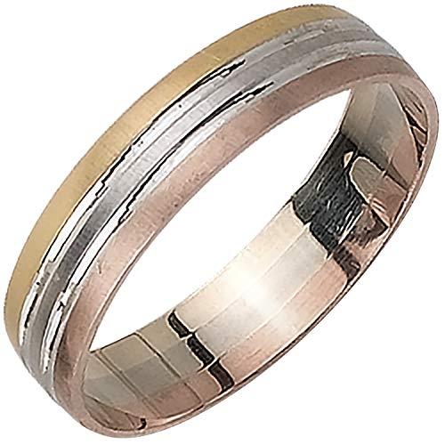 14K Tri Color Gold Pattern Men's Wedding Band (5mm) Size-9c1