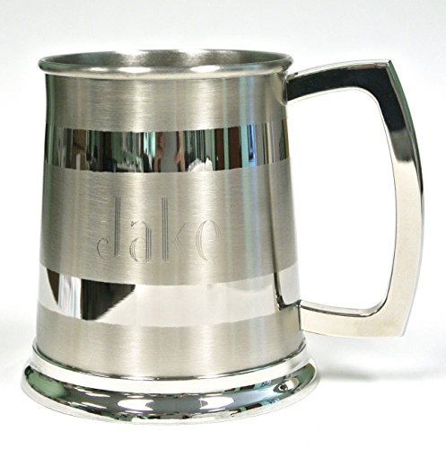 Personalized Silver Beer Mug with Free Engraving