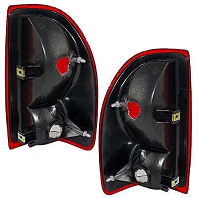 Taillights Tail Lamps Driver and Passenger Replacements for 97-04 Dodge Dakota Pickup Truck 55055113 55055112: Automotive