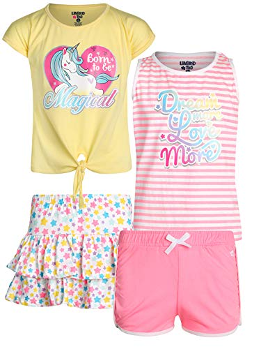 - Limited Too Girls' 4-Piece Fun Summer Short Sets (2 Full Sets), Magic Unicorn, Size 10'