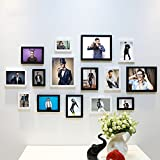 Home@Wall photo frame Living Room Photo Frame Wall ,Creative Wall Photo Frame Combination 15 Pcs/sets Collage,Family Picture Frame Wall DIY Photo Frame Sets ( Color : A , Size : 15frames/13575CM )