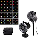Lovewe Christmas Projector Lights,LED Projector Light 16 Pattern Landscape Lamp Projection For Christmas,Halloween,Thanksgiving,Birthday,Party,Easter,Wedding,Holiday Decoration (C)
