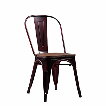 Amazon Com Loft Retro Dining Chairs Industry Metal Solid