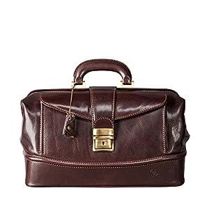 Maxwell Scott Full Grain Italian Leather Doctor Bag – DonniniS Brown